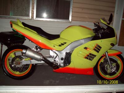 1995 Suzuki 900 RF Neon Yellow and Orange Paint (Example only)