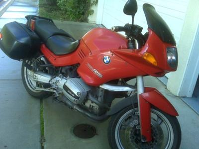 Marrakesh Red 1996 BMW R1100RS Sports Touring motorcycle