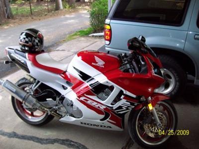 1996 Red White Black Honda CBR 600 F3 Motorcycle