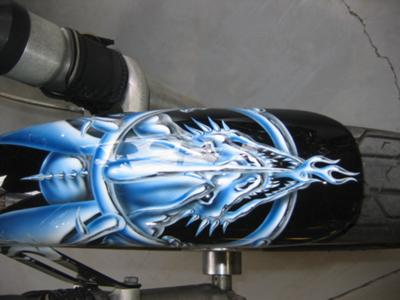 1996 FXSTC Harley Davidson Softtail Custom Fender Painting Art Graphics