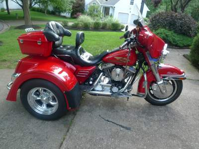 1996 Harley Electra Glide with MotorTrike Conversion Kit for sale by Owner in Maryland MD
