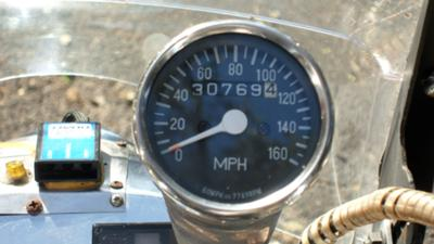 Blue on Silver 1996 Kawasaki Vulcan 1500 cc 1500cc Custom Fuel Tank Paint Odometer Reading