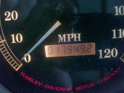 1996 Harley Davidson Springer Softail odometer