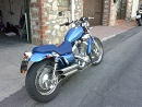 1996 Yamaha 535 Virago with blue paint color