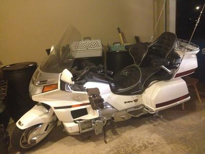 1997 Honda Goldwing with White and Chrome Color Scheme