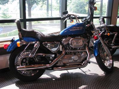1997 Harley Davidson HUGGER Sportster XLH883 883 with States Blue Pearl Paint Color (example only)