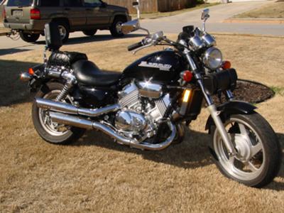 1997 Honda Magna 750 Black Motorcycle