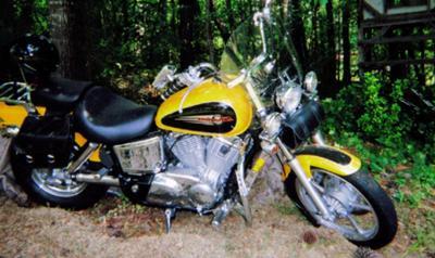 Yellow 1997 Honda Shadow 1100
