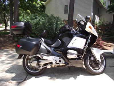 Black 1998 BMW R1100