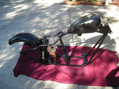 1998 Chopper Motorcycle Project Softail Frame
