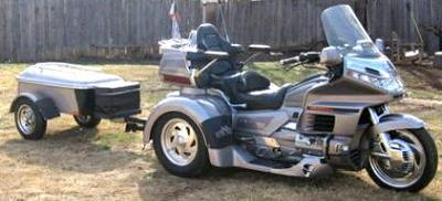 1998 Honda Goldwing GL1500 Trike motorcycle with silver on silver paint color combination