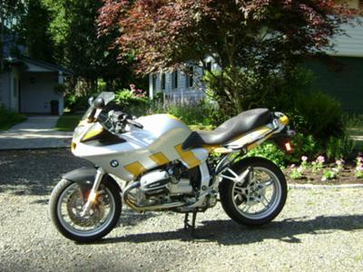 Yellow and silver 1999 BMW R1100S (example only; please contact seller for pics)