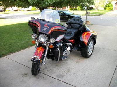 1999 Custom Paint Harley Trike - Ultra Classic Custom DFT Trike