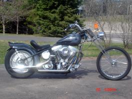 Prismatic Custom Color Changing Paint Harley Davidson Custom Chopper 1999 EVO, 5 speed kicker