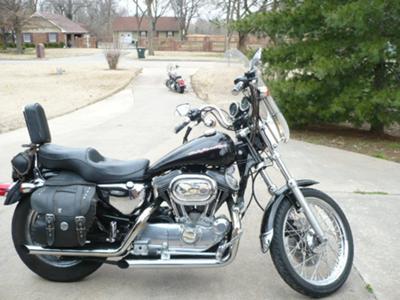 Black 1999 Harley Davidson Sportster 1200
