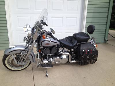 1999 Harley Davidson Springer Heritage Softail with rare Diamond Ice  paint color option