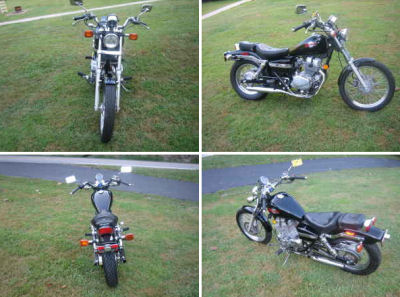 1999 Honda 250 Rebel (not the motorcycle for sale in this classified)
