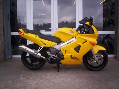 Honda VFR800 w Bright Yellow Paint Color Option