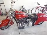 Red 1999 Indian Chief Motorcycle