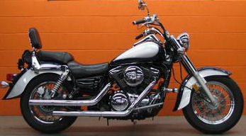 1999 Kawasaki Vulcan with Blue and Silver Paint color