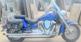 YAMAHA RoadStar Road Star Silverado 1600 with Candy apple blue motorcycle paint job
