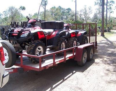 (2) 2006 Honda Rincon ATVs with Trailer