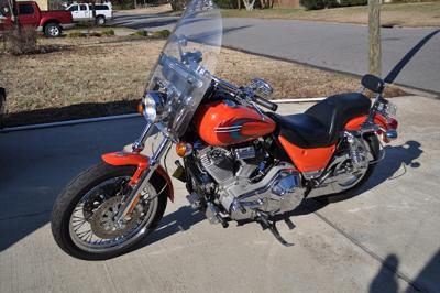 Orange Stock 2000 Harley Davidson FXR4
