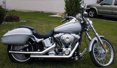 Silver 2000 HARLEY DAVIDSON SOFTAIL DEUCE