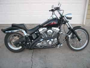 2000 Harley Davidson Softail Standard with an 88 cubic inch twin cam with Arlen Ness 3 inch forward control extensions