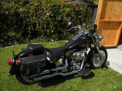 2000 Harley Davidson HD Fatboy w removable windshield and sissy bar