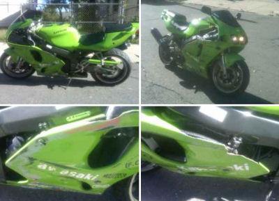 Neon Lime Green 2000 Kawasaki 750r