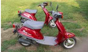 Red 2000 Yamaha Razz Scooter  (this photo is for example only; please contact seller for pics of the actual  motor scooter for sale in this classified)