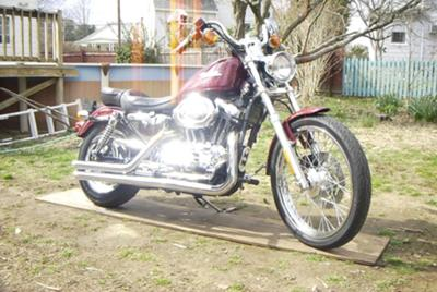 1200 Harley Davidson sportster with Samson exhaust pipes