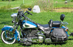 2001 Harley Davidson springer softail heritage teal blue and white