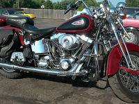 2001 Harley Davidson springer FLSTSI softail red and black