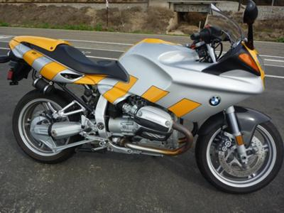 Mandarin Orange and Silver Paint Color 2001 BMW R1100S MOTORCYCLE