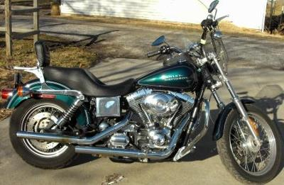 2001 Harley Davidson Dyna Lowrider FXDL Emerald Green Paint