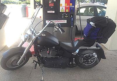 2001 Harley Davidson FatBoy Fatboy w custom flat black paint job, raked fuel tank