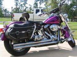 2001 Harley Davidson Heritage Softail Classic Motorcycle Candy Purple Paint Skull Ghost Tank  and  Fender