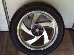 2001 Honda Goldwing Motorcycle Rim and Wheel