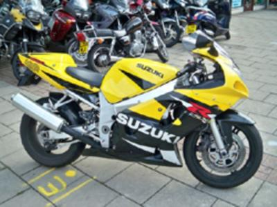 Yellow 2001 Suzuki GSXR 600 ALSTARE EDITION