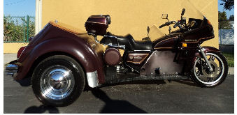 Custom 2001 VW Goldwing Trike Motorcycle