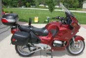 burgundy 2002 bmw r1150RT