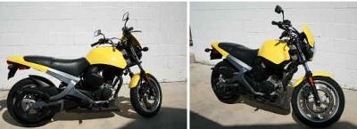 Bright yellow 2002 Buell Blast