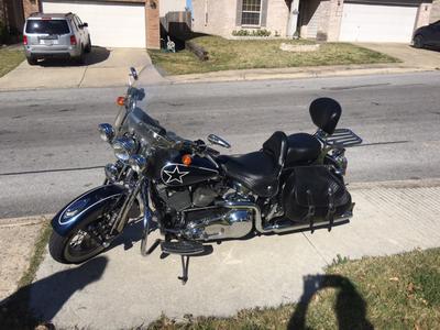 Custom painted 2002 Harley Davidson Heritage Softail Springer Dallas Cowboys paint job