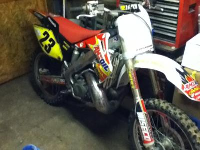 2002 Honda cr250 dirt bike
