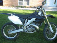 black 2002 honda cr250r cr 250r cr 250