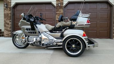 2002 Honda GoldWing GL1800 trike conversion and motorcycle trailer for sale by owner