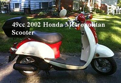 2002 Honda Metropolitan Motor Scooter w off white and red paint color