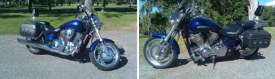 2002 Honda VTX 1800C Blue (example only)
